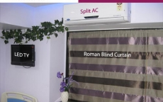 led-tv-split-ac-roman-blind-curtain-cosmetic-surgery-centre-india