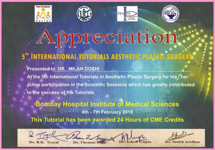 5th International Tutorials Aesthetic Plastic Surgery