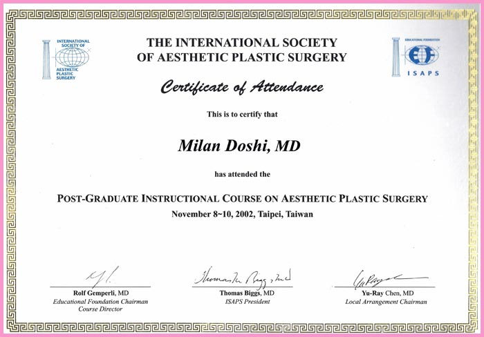 The International Society of Aesthetic Plastic Surgery