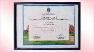 IAAPS-Certificate