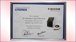 Lysonix-Training-Center Certificate