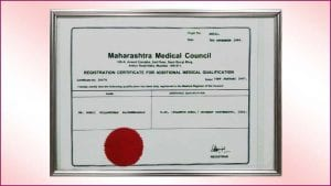 Maharashtra-Medical-Council Certificate