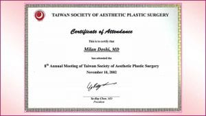 taiwan-society-of-aesthetic-plastic-surgery-certificate