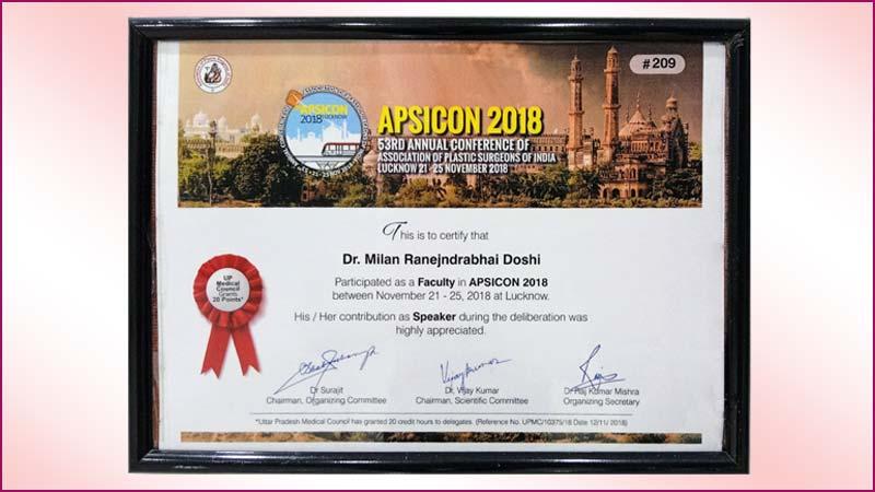 APSICON Certificate