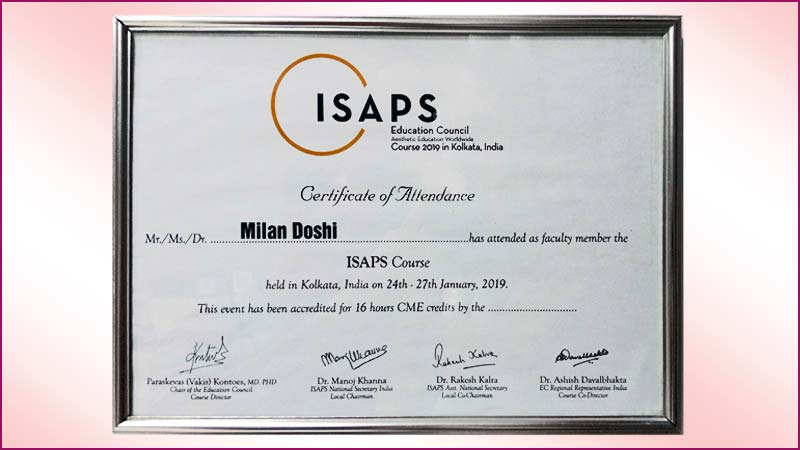 ISAPS-Certificate