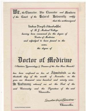 gynecologist in mumbai certificate